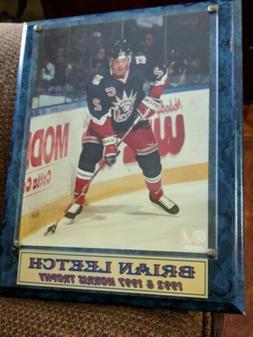 New York Rangers Hockey Brian Leetch 1992 & 1997 Norris Trop