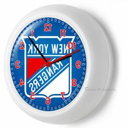 NEW YORK RANGERS HOCKEY TEAM NYR LOGO WALL CLOCK MAN CAVE BO