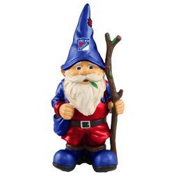 "New York Rangers Holding Stick Decorative Garden Gnome 10"" Y"