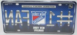 NEW YORK RANGERS License Plate Car Accessories Collectible N