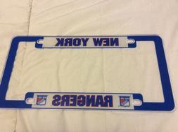 New York Rangers license plate Plastic Frame Auto Tag NHL Br