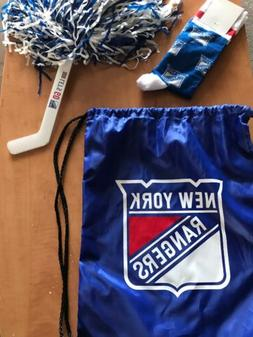 New York Rangers Logo Drawstring Bag, Brand New NYR Socks, C