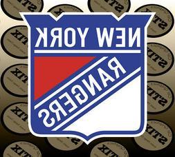 New York Rangers Logo NHL Color Die Cut Vinyl Sticker Car Wi