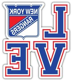 "New York Rangers Love NHL Sport Car Bumper Sticker Decal - """