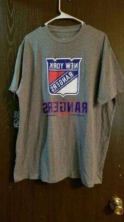 NHL New York Rangers Men's Home Ice T-Shirt - Gray XXL