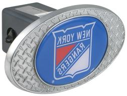 New York Rangers Metal Diamond Plate Trailer Hitch Cover