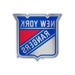 "NEW YORK RANGERS MIRRORED AUTO BADGE CAR EMBLEM DECAL 3""X5"""