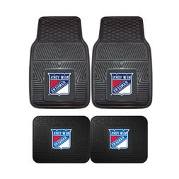 New York Rangers NHL 2pc and 4pc Mat Sets - Heavy Duty-Cars,
