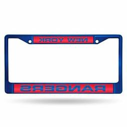 New York Rangers NHL Blue Painted Metal Laser Cut License Pl