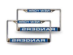 New York Rangers NHL Chrome Metal  Laser Cut License Plate F