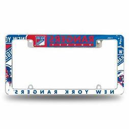 New York Rangers NHL Chrome Metal License Plate Frame w/ Bol