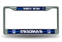 New York Rangers NHL Glitter Bling Chrome License Plate Fram