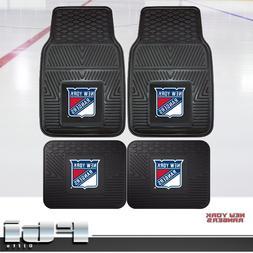 New York Rangers NHL Heavy Duty Vinyl 2-Pc & 4-Pc Floor Car