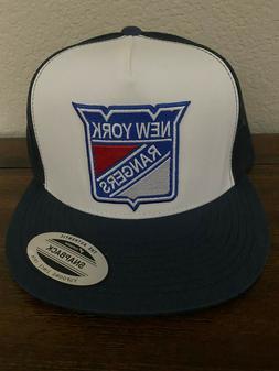 NEW YORK RANGERS NHL Hockey Classic Logo Trucker Blue & Whit