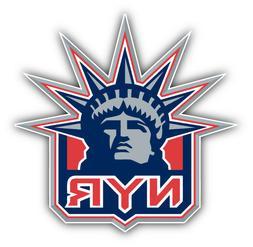 New York Rangers NHL Hockey Head Logo Car Bumper Sticker Dec