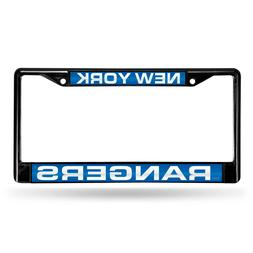 New York Rangers NHL Laser Cut Black License Plate Frame