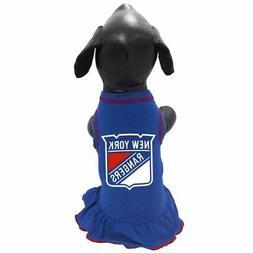 New York Rangers NHL Pet Dog Premium CHEERLEADER DRESS