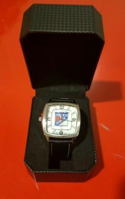 New York Rangers NHL retro series watch, leather wrist band