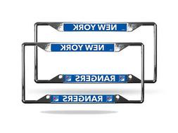 New York Rangers NHL  Lightweight Chrome Metal License Plate