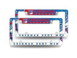 New York Rangers NHL  Chrome Metal License Plate Frames w/ B