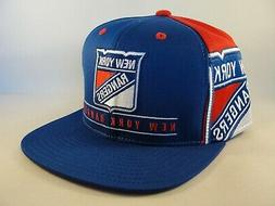 New York Rangers NHL Reebok Snapback Hat Cap Blue Red
