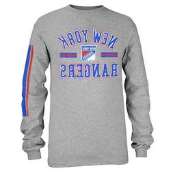 New York Rangers Outerstuff NHL Youth Grey Long Sleeve Graph