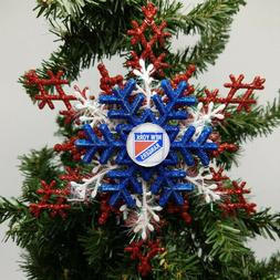 New York Rangers ornament Christmas Ornament Snowflake Ornam
