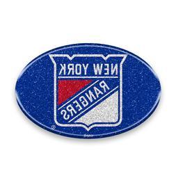 New York Rangers Oval Bling Auto Emblem
