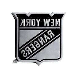New York Rangers Premium Solid Metal Chrome Auto Emblem Rais