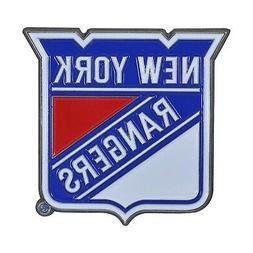 New York Rangers Premium Solid Metal COLOR Auto Emblem Raise