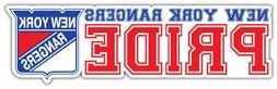 New York Rangers Pride NHL Sport Car Bumper Sticker Decal -
