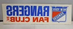 "New York rangers ""Rangers Fan Club"" Original Vintage 1970's"