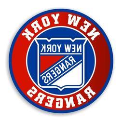 New York Rangers Round  Precision Cut Decal / Sticker