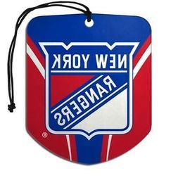 New York Rangers Shield Design Air Freshener 2 Pack  NHL Fre