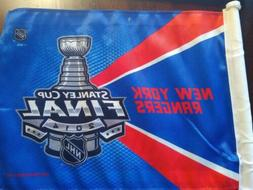 NEW YORK Rangers Stanley cup finals car flag