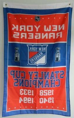 New York Rangers Stanley Cup Champions Flag 3ft x 5ft Polyes