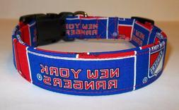 New York Rangers Terri's Dog Collar custom made adjustable w