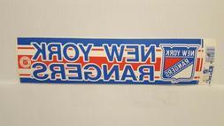 NEW YORK RANGERS Vintage Team Bumper Sticker  Decal Strip