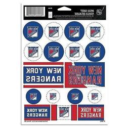 New York Rangers Vinyl Die-Cut Sticker Set / Decal Sheet *Fr