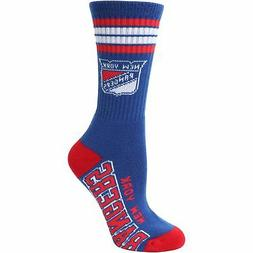 New York Rangers For Bare Feet Women's Four Stripe Socks