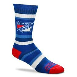 New York Rangers For Bare Feet Women's Rainbow Stripe Tri-Bl
