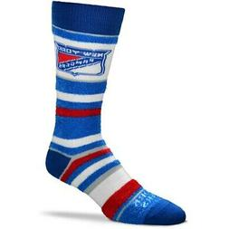 New York Rangers For Bare Feet Women's Soft Stripe Quarter-L