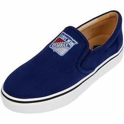 New York Rangers Cuce Women's Suede Slip On Shoe - Blue