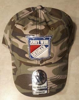 NEW YORK RANGERS Womens Hat Camouflage Cap Sequin Logo Adjus