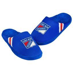 New York Rangers Youth Jersey Mesh SLIDE SLIPPERS New - FREE