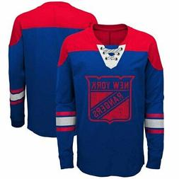 New York Rangers Youth NHL Perennial Long Sleeve Lace Up Shi