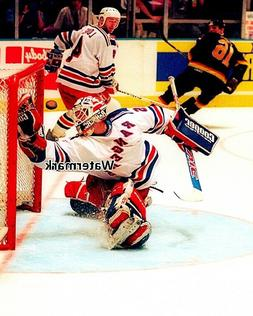 NHL 1994 Mike Richter New York Rangers Game Action  Color 8