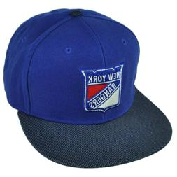 NHL American Needle New York Rangers Flat Bill Suede Snapbac