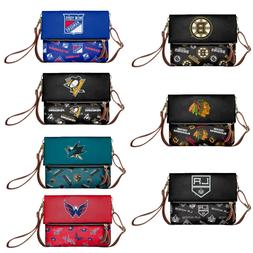 NHL Hockey Womens Printed Collection Foldover Tote Bag