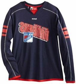 Reebok NHL Mens New York Rangers Long Sleeve Jersey Shirt To